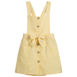 Babidu Yellow Cotton Pinafore Dress