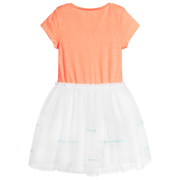 Billieblush Delicate Orange-White Dress For Little Fashionistas 1