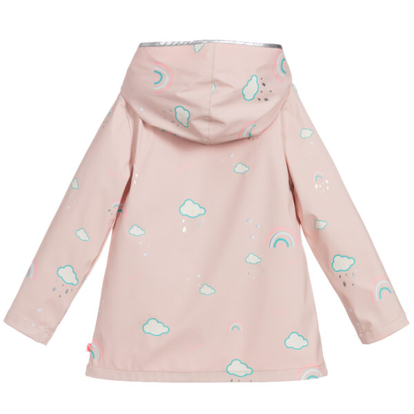Billieblush Girls Pink Hooded Raincoat 1