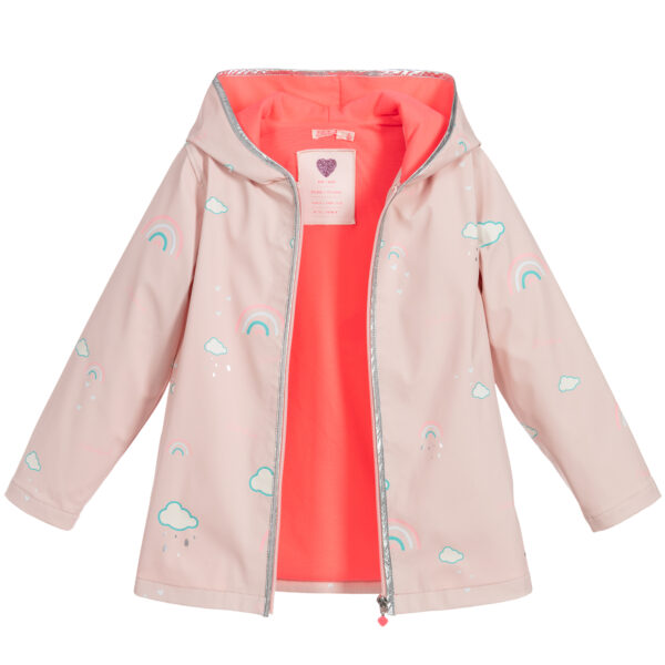 Billieblush Girls Pink Hooded Raincoat 2