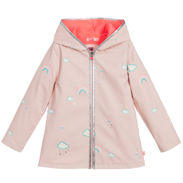 Billieblush Girls Pink Hooded Raincoat