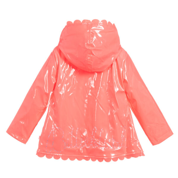 Billieblush Girls Pink Shiny Raincoat 1