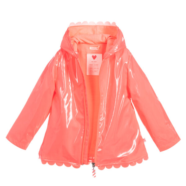 Billieblush Girls Pink Shiny Raincoat 2