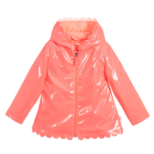 Billieblush Girls Pink Shiny Raincoat