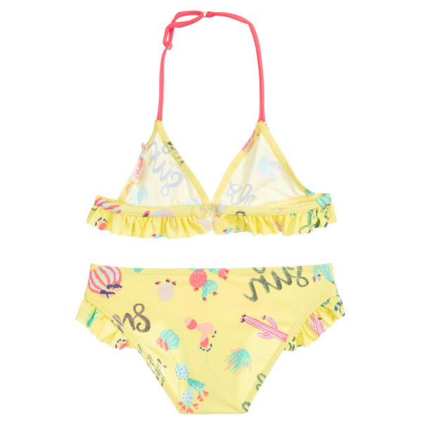 Billieblush Girls Yellow Cactus Swimsuit 1
