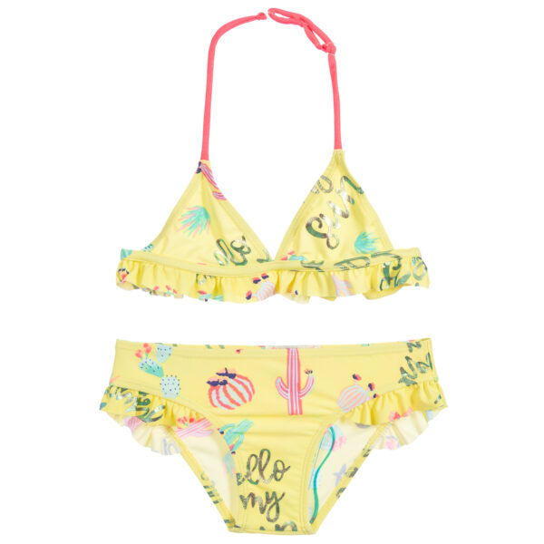 Billieblush Girls Yellow Cactus Swimsuit