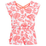 Billieblush Pink Cotton Playsuit With Cactus 2