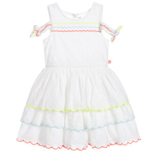 Billieblush White Sundress With Colorful Inserts