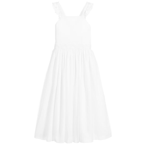 Carrément Beau Long White Dress