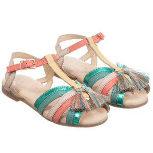 Carrément Beau Striped Sandals For Girls