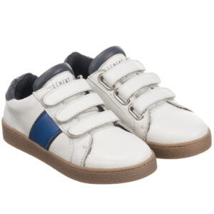 Carrément Beau White Leather Trainers For Boys