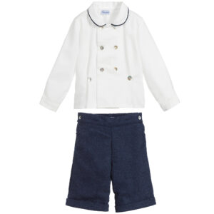Ancar Blue And White Buster Suit For Boys 1