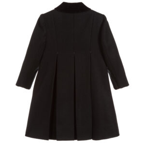 Ancar Girls Black Wool Coat 1