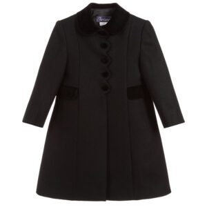 Ancar Girls Black Wool Coat