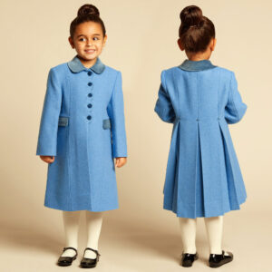 Ancar Girls Blue Wool Coat 1