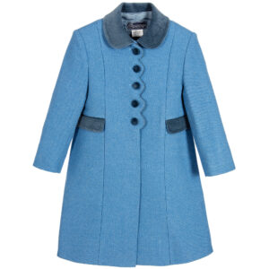 Ancar Girls Blue Wool Coat