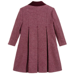 Ancar Girls Burgundy Violet Wool Coat 1