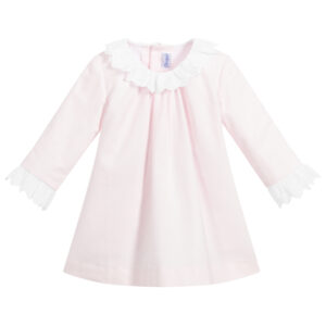 Ancar Girls Pink Cotton Dress Set