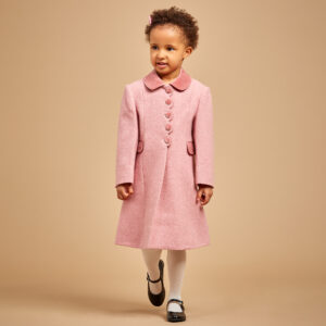 Ancar Girls Pink Wool Coat 1