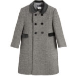 Ancar Grey Wool Coat For Children