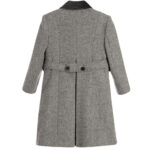 Ancar Grey Wool Coat For Children 2