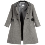 Ancar Grey Wool Coat For Children 3
