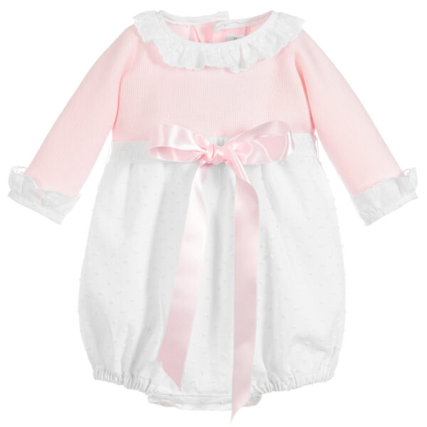 Ancar Pink & White Shortie With Pink Bow