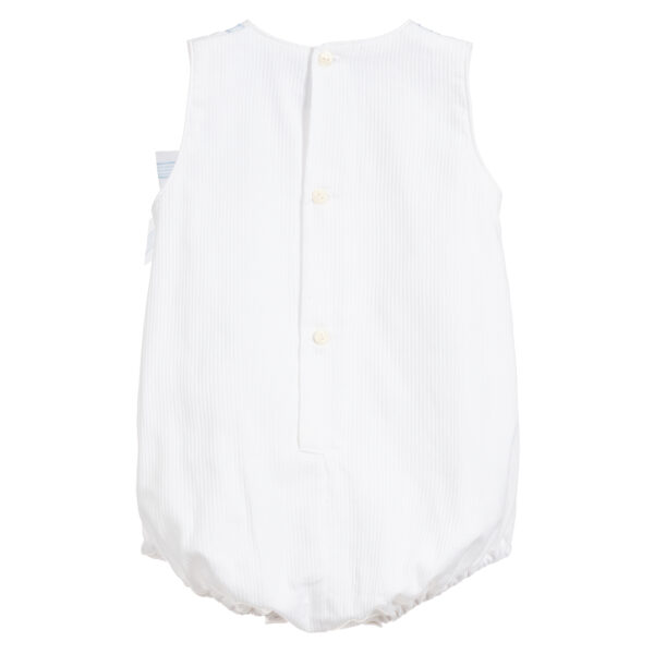 Ancar White & Blue Cotton Shortie For Babies 2