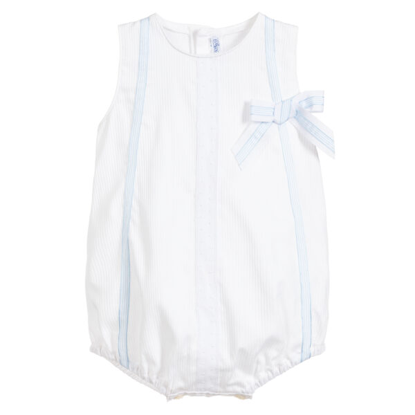 Ancar White & Blue Cotton Shortie For Babies