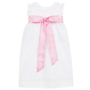 Ancar White Cotton Baby Day Dress