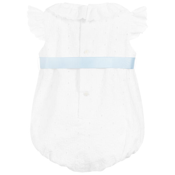 Ancar White Cotton Shortie With A Blue Bow 1