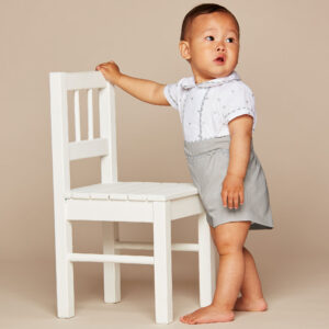 Ancar White & Grey Suit For Boys 1