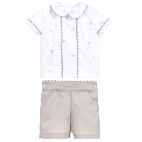 Ancar White & Grey Suit For Boys 2