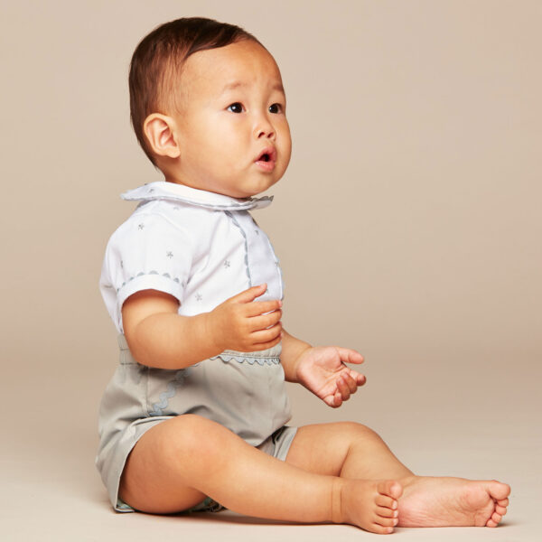 Ancar White & Grey Suit For Boys 3