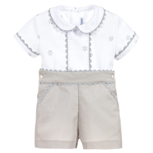 Ancar White & Grey Suit For Boys