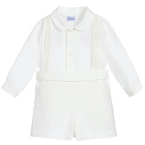 Ancar White Silk Buster Suit