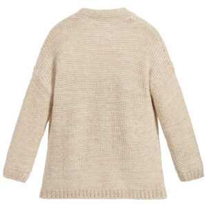 Chloé Beige Cardigan For Girls 1