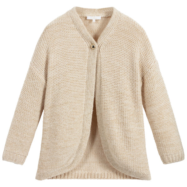 Chloé Beige Cardigan For Girls