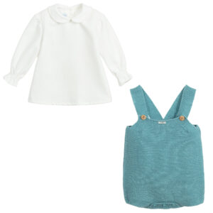 Foque Aqua Blue Shorts Set For Children 1