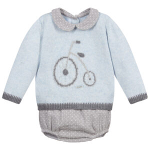Foque Blue & Grey Shorts Set