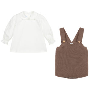 Foque Brown Shirt Set For Children 1