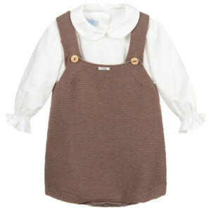 Foque Brown Shirt Set For Children