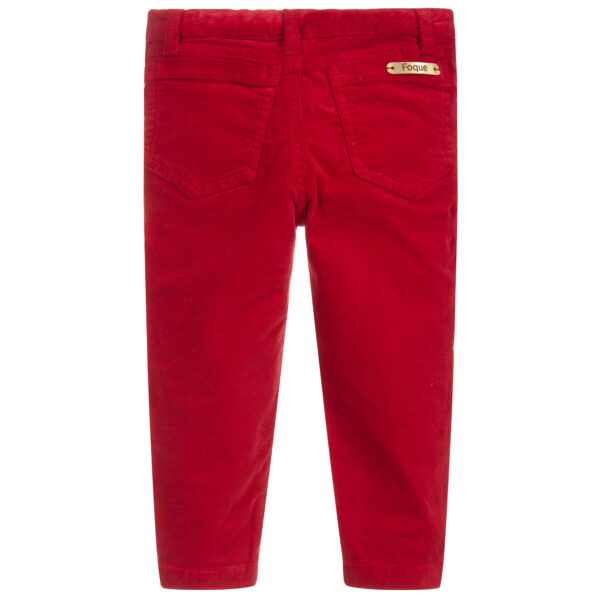 Foque Girls Red Trousers 1