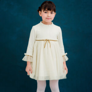Foque Ivory Tulle Dress For Girls 1