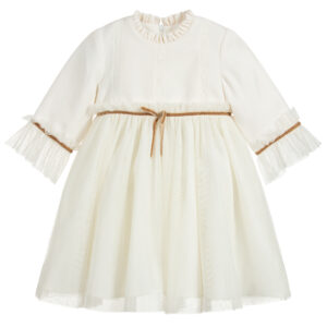 Foque Ivory Tulle Dress For Girls