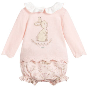 Foque Pink Rabbit Shorts Set