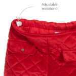 Foque Red Velour Shorts For Girls 2