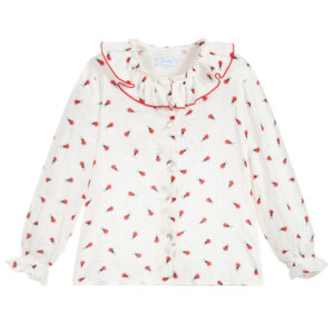 Foque White Blouse With Ladybird