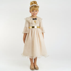 Graci Gold Dress For Girls 1