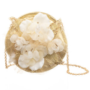 Graci Gold Floral Satin Bag (16cm)